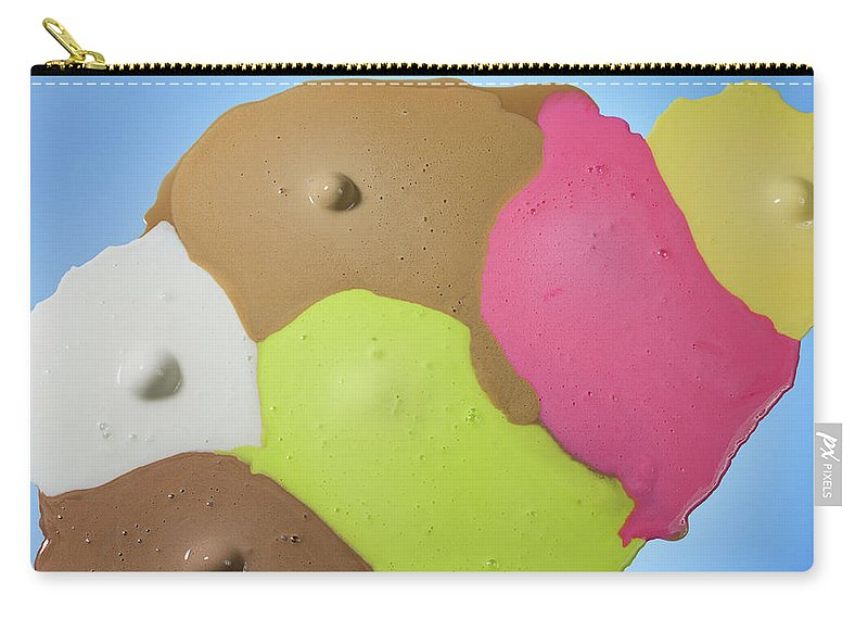Melting Carry-all Pouch featuring the photograph Ice Cream Scoops Melting, Different by Jonathan Knowles