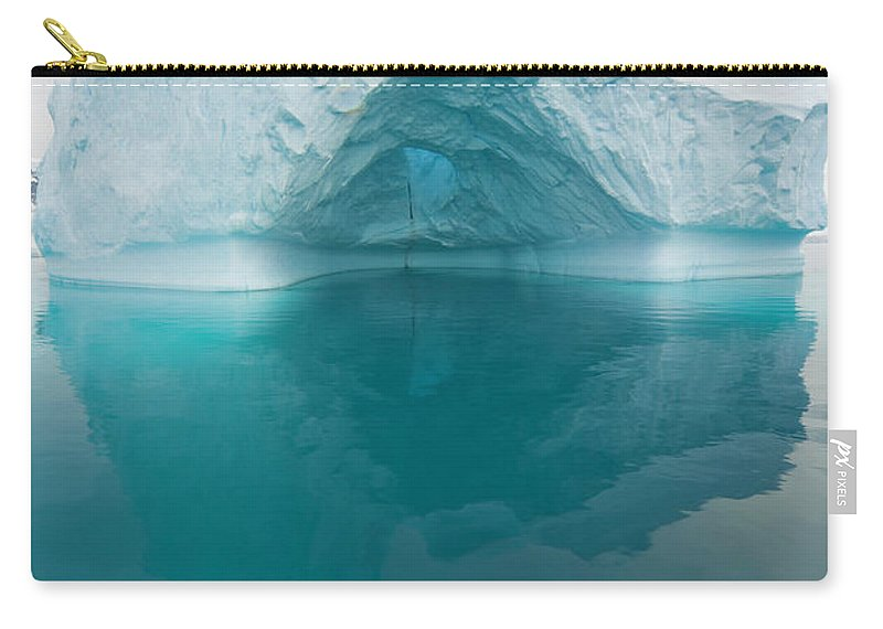 Iceberg Carry-all Pouch featuring the photograph Iceberg And Reflections, Antarctic by Eastcott Momatiuk