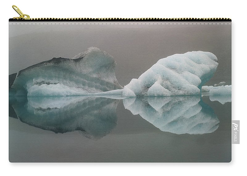 Scenics Carry-all Pouch featuring the photograph Iceland, Breidamerjokull Region by Art Wolfe