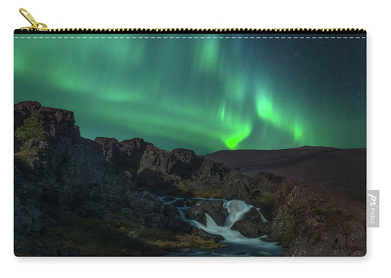 Iceland Carry-all Pouch featuring the photograph Icelandic Flows by Darren White