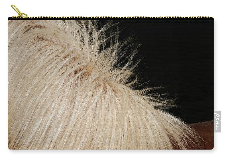 Horse Carry-all Pouch featuring the photograph Icelandic Horse by Roine Magnusson