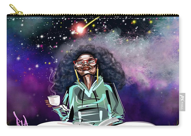 Coffee Carry-all Pouch featuring the painting I.C.U like U.C.Me by Artist RiA