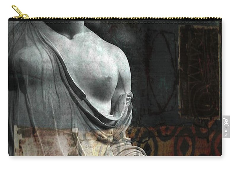 Religious Carry-all Pouch featuring the mixed media If Not For You - Statue by Paul Lovering