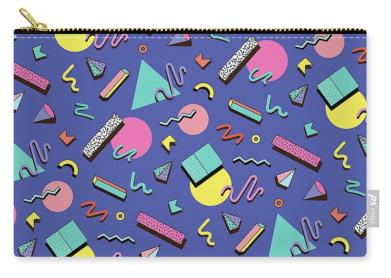 Cool Attitude Carry-all Pouch featuring the digital art Illustration For Hipsters Style by Fighter francevna