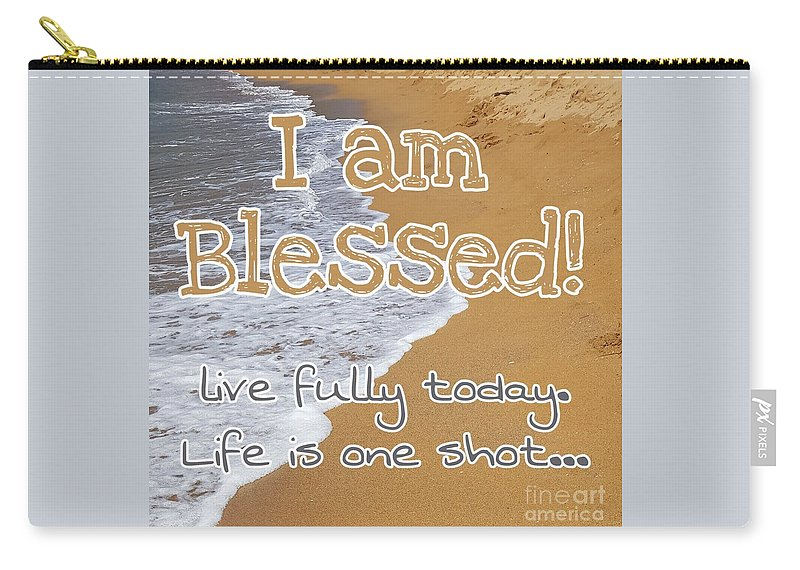 Cards Carry-all Pouch featuring the digital art I'm Blessed by Paola Baroni