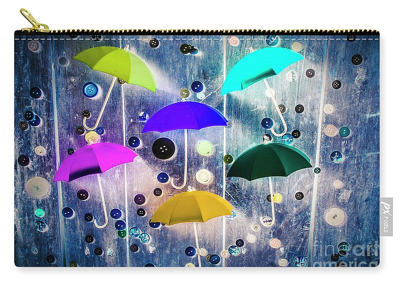 Artwork Carry-all Pouch featuring the photograph Imagination Raining Wild by Jorgo Photography - Wall Art Gallery