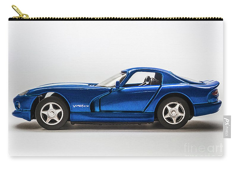 Dodge Viper Carry-all Pouch featuring the photograph In Race Blue by Jorgo Photography - Wall Art Gallery