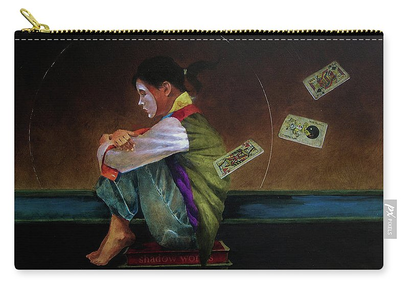 Figure Carry-all Pouch featuring the painting In The Cards by Troy Crisswell