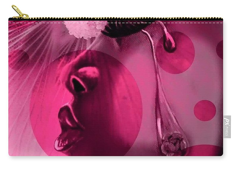 Digital Art Carry-all Pouch featuring the digital art In The Pink by Angelique Troy