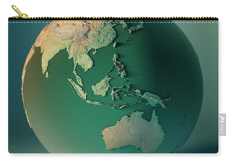 Indonesia Globe 3d Render Planet Earth Dof Carry-all Pouch on vector map indonesia, tv indonesia, travel map indonesia, satellite indonesia, map with physical features of indonesia,