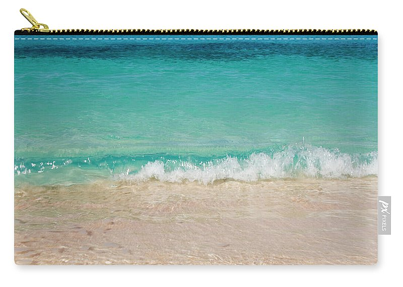 Water's Edge Carry-all Pouch featuring the photograph Indonesia, Waves Rolling In From Indian by Joe Mcbride