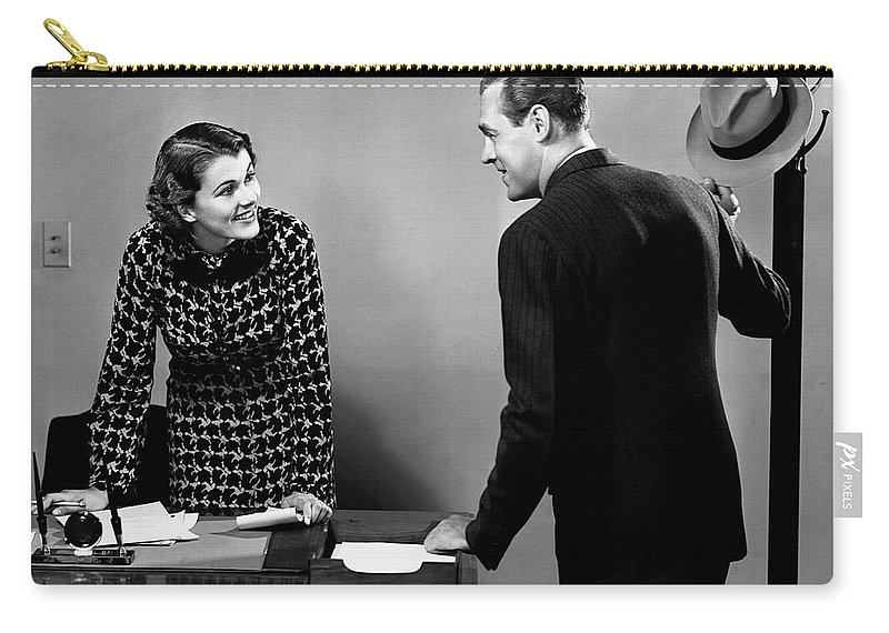 Corporate Business Carry-all Pouch featuring the photograph Indoor Business Scene by George Marks