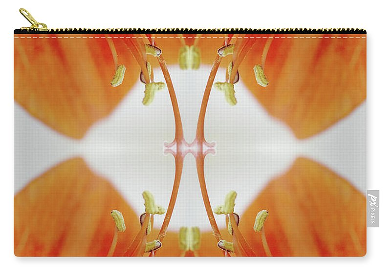 Tranquility Carry-all Pouch featuring the photograph Inside An Amaryllis Flower by Silvia Otte