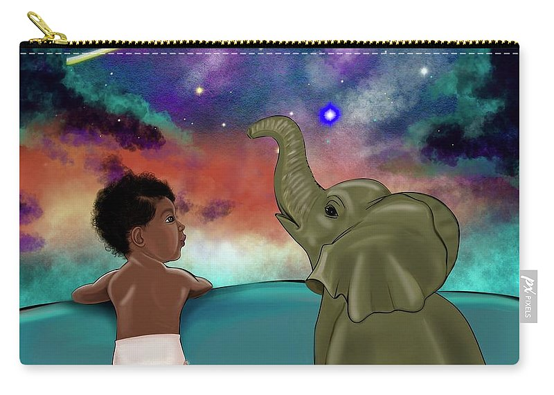 Elephant Carry-all Pouch featuring the painting Inspired by Artist RiA