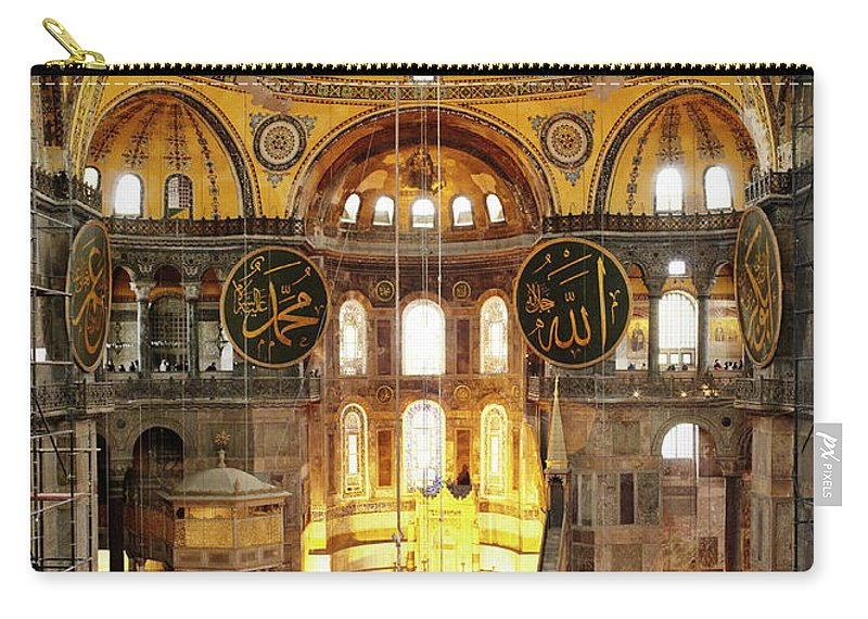Arch Carry-all Pouch featuring the photograph Interior Of Hagia Sophia by Silvia Otte