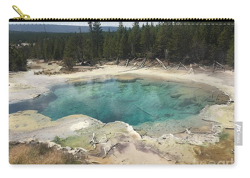 Trees Carry-all Pouch featuring the photograph Inviting.... But Deadly. by Rebecca Snowball