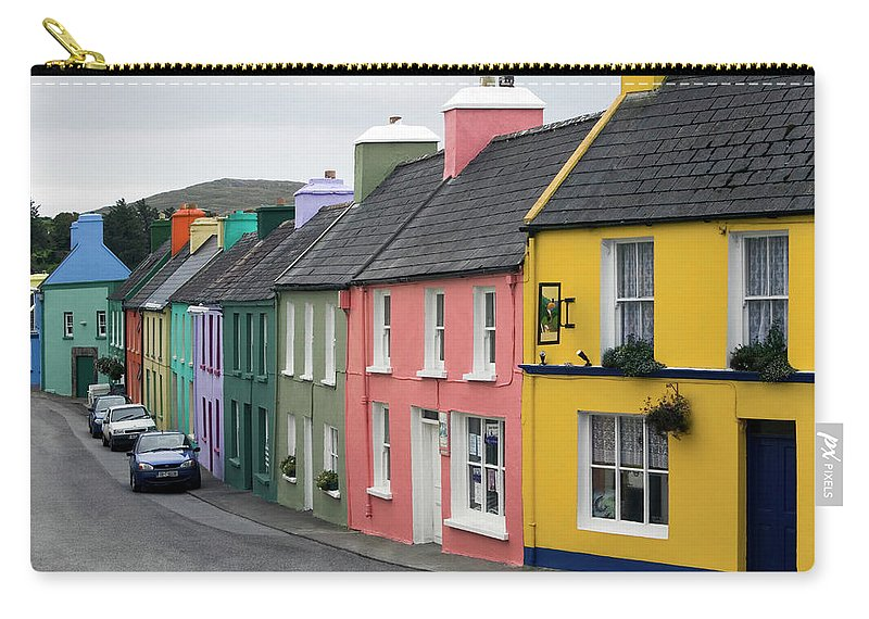 Row House Carry-all Pouch featuring the photograph Ireland, County Cork, Beara Peninsula by Glen Allison