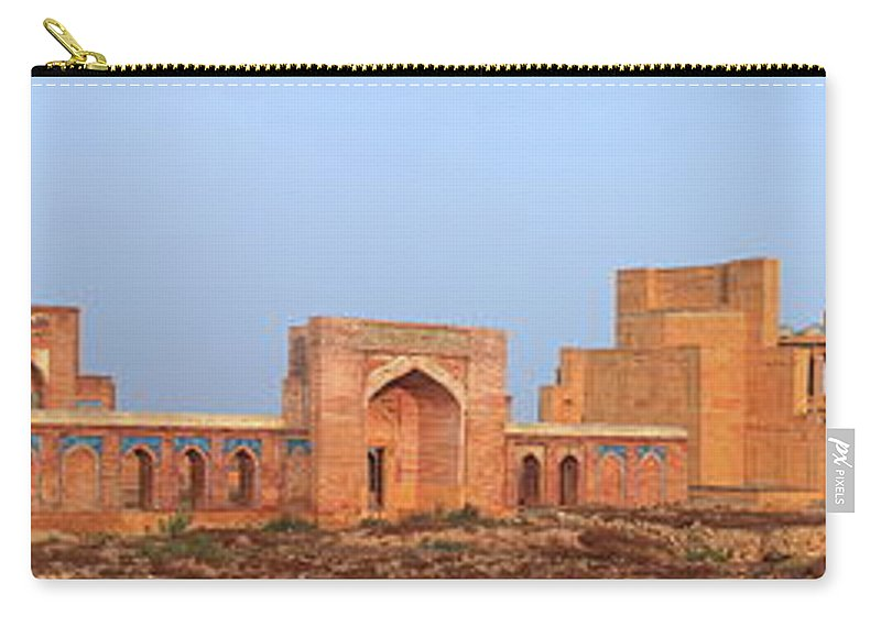 Tranquility Carry-all Pouch featuring the photograph Isa Khan Tombs Of Makli by Nadeem Khawar