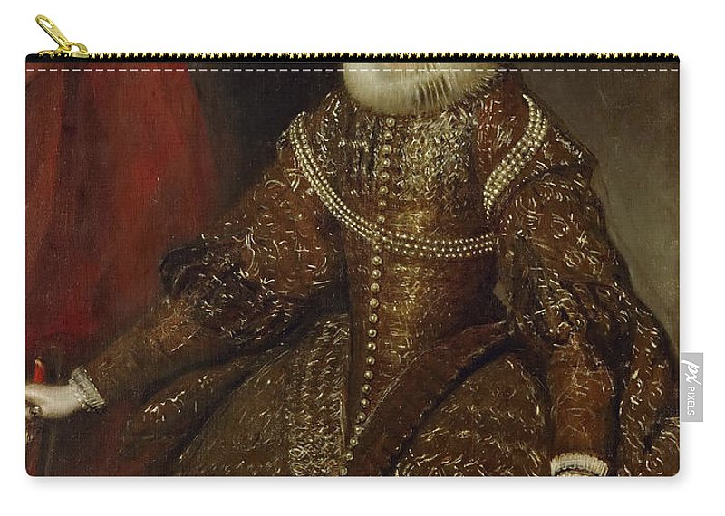 Diego Velázquez Carry-all Pouch featuring the painting Isabella Queen Of Spain by Diego Vel zquez