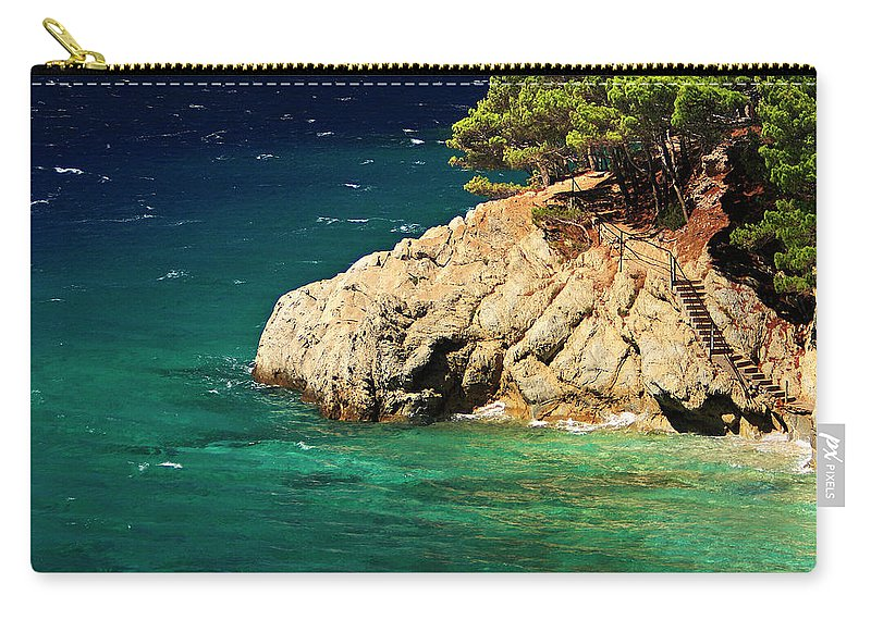 Steps Carry-all Pouch featuring the photograph Island In The Adriatic by Tozofoto