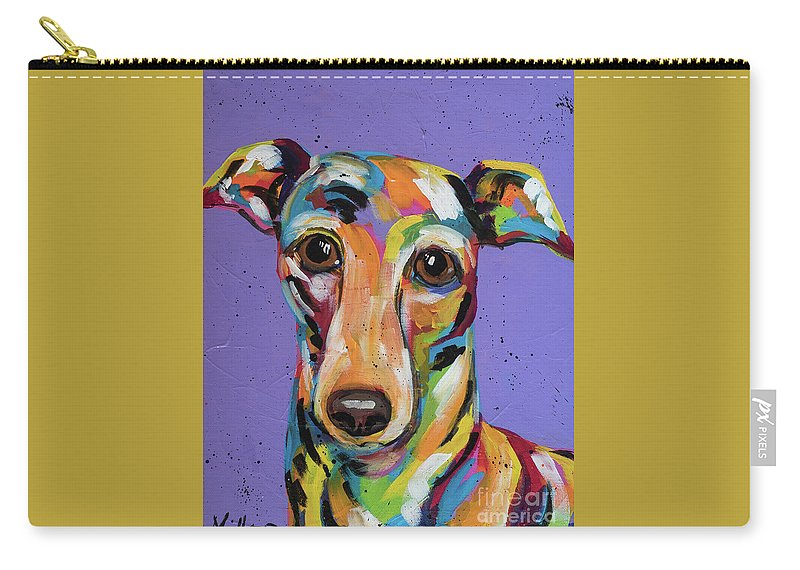 Tracy Miller Carry-all Pouch featuring the painting Italian Greyhound by Tracy Miller