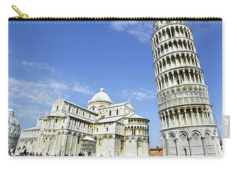 City Carry-all Pouch featuring the photograph Italy, Tuscany, Leaning Tower Of Pisa by Alexander Hassenstein