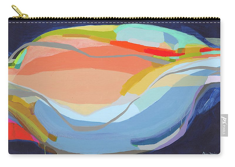 Abstract Carry-all Pouch featuring the painting It's A New Beginning by Claire Desjardins