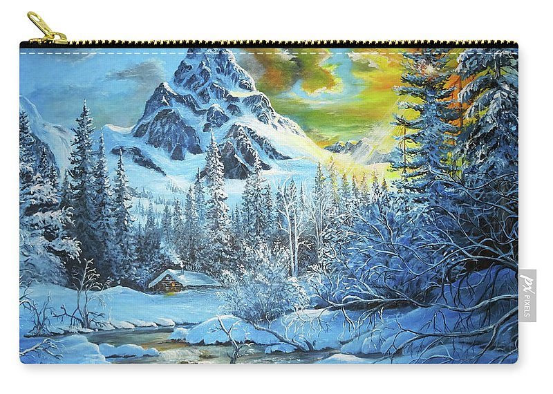 Carry-all Pouch featuring the painting It's Out In The Winter by Calin Vacaru