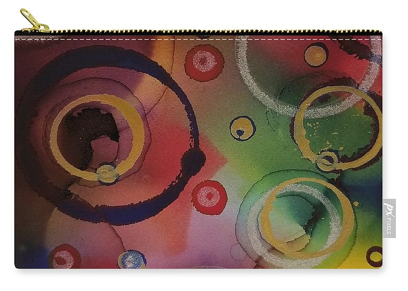 Art Carry-all Pouch featuring the painting Its so 1970 by Paulina Roybal