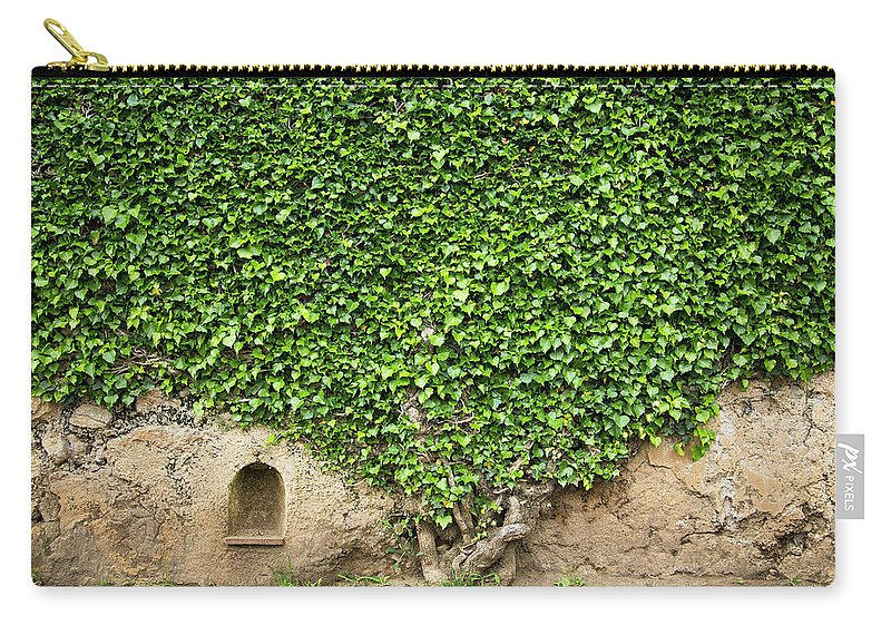 Arch Carry-all Pouch featuring the photograph Ivy On A Wall Of Villa Cimbrone, Ravello by Buena Vista Images