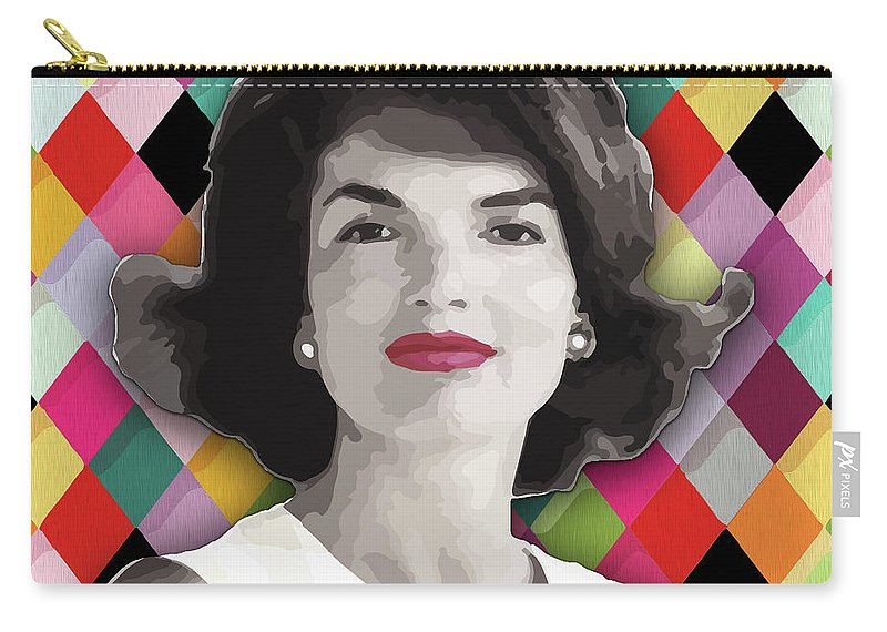 Jackie Carry-all Pouch featuring the painting Jackie Geometric by Carla B