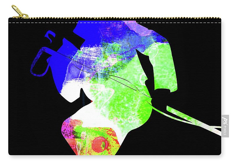 James Brown Carry-all Pouch featuring the mixed media James Watercolor II by Naxart Studio
