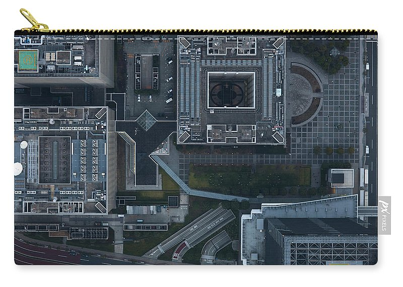 Two Lane Highway Carry-all Pouch featuring the photograph Japan, Tokyo, Aerial View Of Shinagawa by Michael H