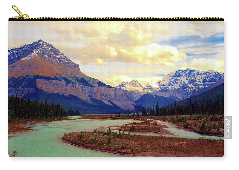 Scenics Carry-all Pouch featuring the photograph Jasper Rockies by Teeje