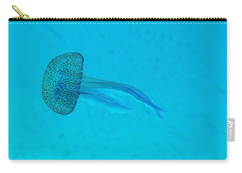 Underwater Carry-all Pouch featuring the photograph Jellyfish In Wild by Sir Francis Canker Photography