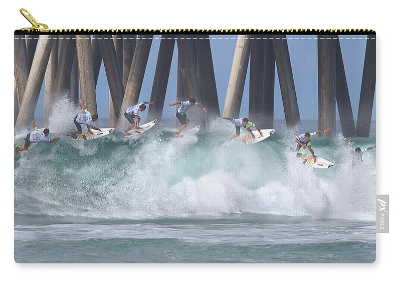 Surfing Carry-all Pouch featuring the photograph Jeremy Flores Surfing Composite by Brian Knott Photography