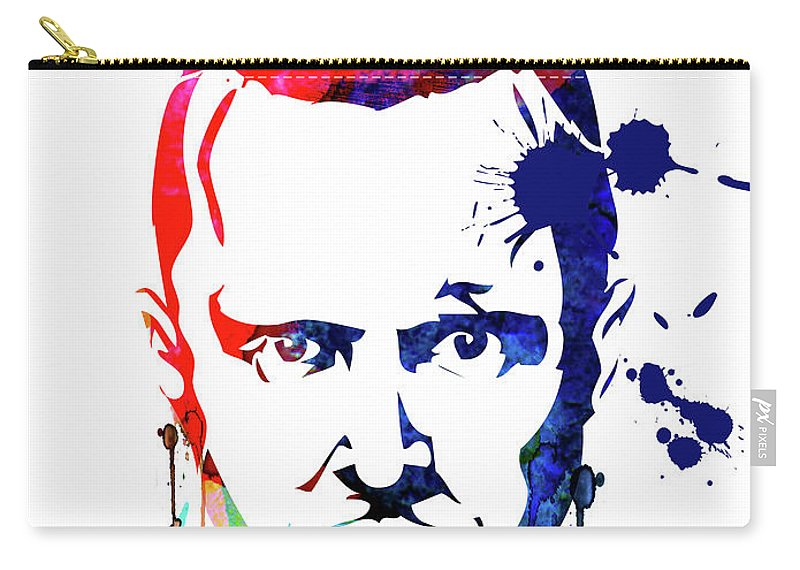 Movies Carry-all Pouch featuring the mixed media Jesse Watercolor by Naxart Studio