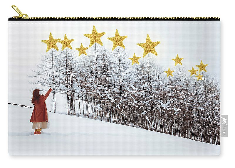 Hand Raised Carry-all Pouch featuring the photograph Jesus, Lord, At Thy Birth by Copyright Alpsrabbit* All Rights Reserved
