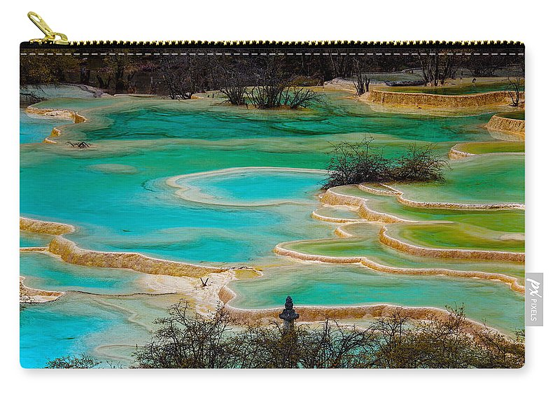 Chinese Culture Carry-all Pouch featuring the photograph Jiuzhaigou,sichuan by View Stock
