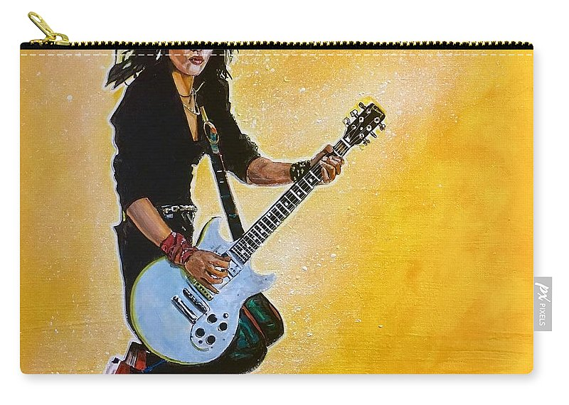 Joan Jett Carry-all Pouch featuring the painting Joan Jett by Joel Tesch
