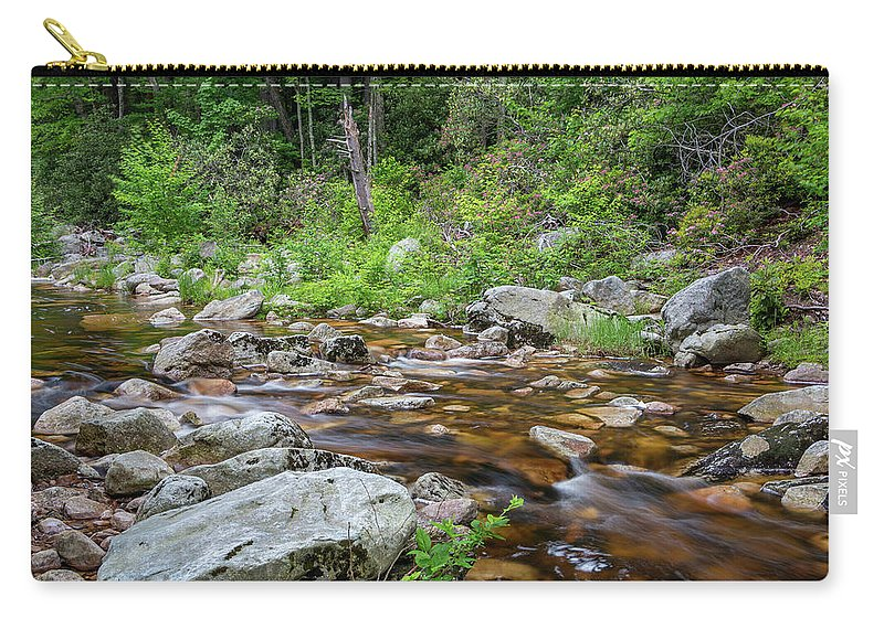 Hudson Valley Carry-all Pouch featuring the photograph June Morning At The Peterskill by Jeff Severson