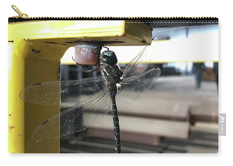 Dragon Fly Carry-all Pouch featuring the photograph Just Hanging Out by Chris Dippel