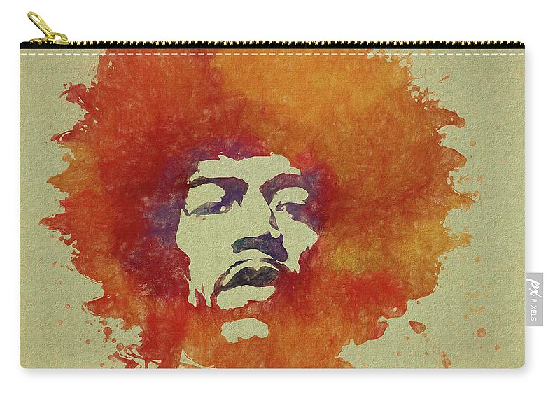 Psychedlic Carry-all Pouch featuring the painting Just Jimi by Dan Sproul