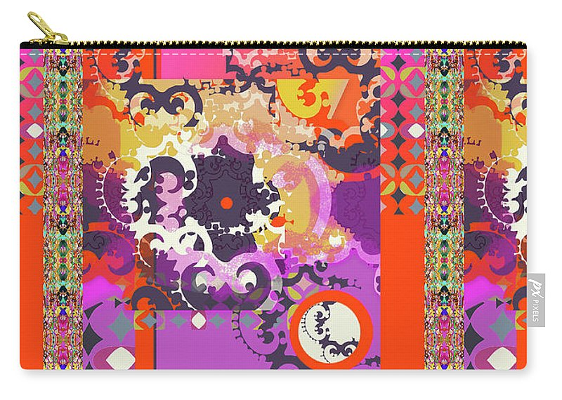 Hot Pink Carry-all Pouch featuring the digital art Kelly by Ceil Diskin