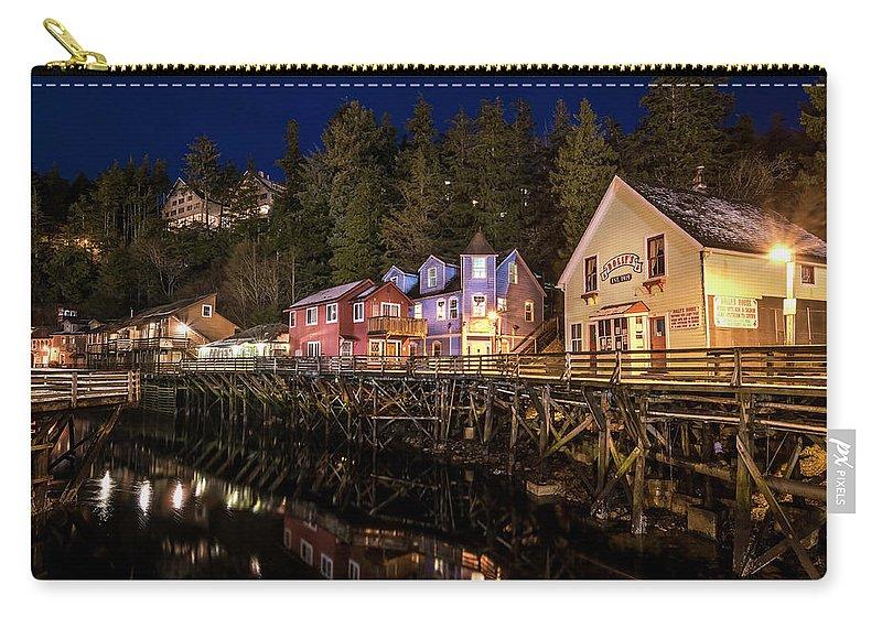 Ketchikan Alaska Carry-all Pouch featuring the photograph Ketchikan Creek Street by Michael J Bauer