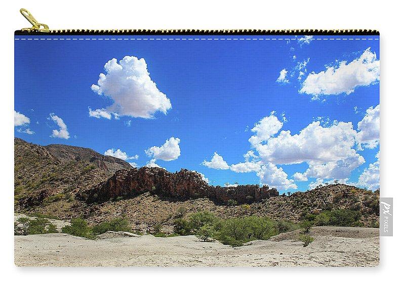 #namibia #africa #travel #nature #wildlife #etosha #safari #landscape #desert #etoshanationalpark #photography #windhoek #wildlifephotography #explore #adventure #animals #canon #namibdesert #instatravel #zebra #roadtrip #travelgram #travelphotography #love #desert #epupawaterfalls #opuwa #kunene #ovahimba #4x4 #khowaribschlucht #khowarib Lodge Carry-all Pouch featuring the photograph Khowarib Schlucht 2 by Laetitia Becker