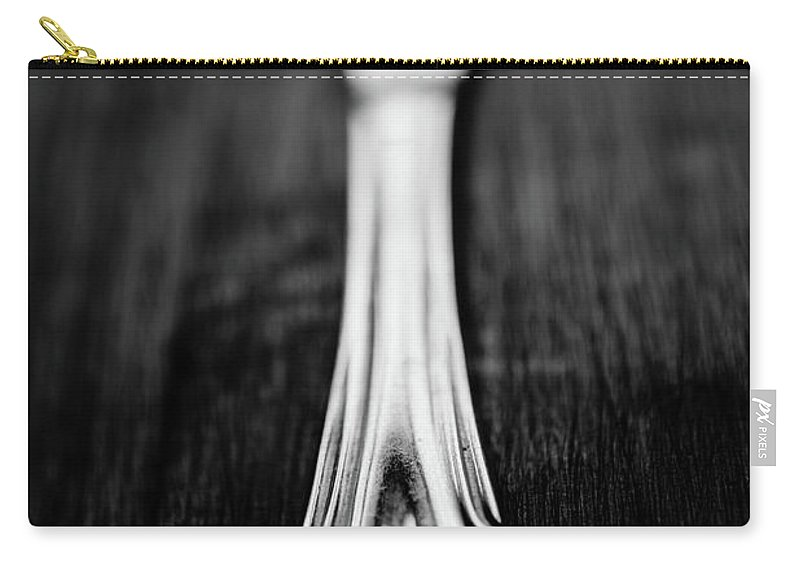 Silver Colored Carry-all Pouch featuring the photograph Knife by Mmeemil