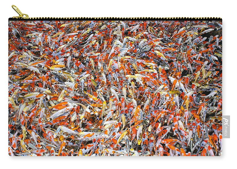 Pets Carry-all Pouch featuring the photograph Koi Jigsaw by Chris Edwards