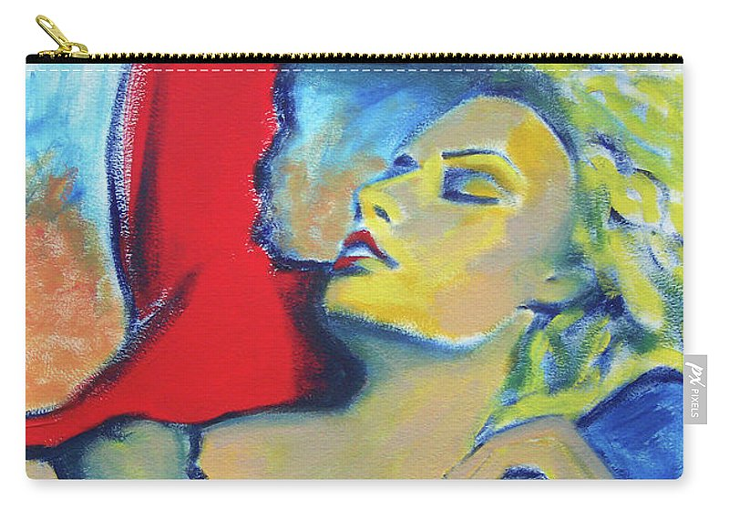 Woman Carry-all Pouch featuring the painting Kristy by Lee Wilde-Portraits