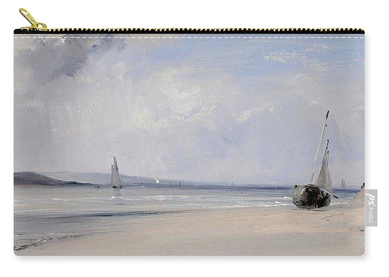 Richard Parkes Bonington Carry-all Pouch featuring the painting La Fert  by Richard Parkes Bonington
